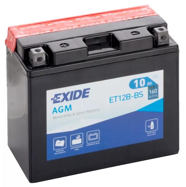 Baterie EXIDE AGM 12V 10AH (YT12B-BS) Fara Intretinere
