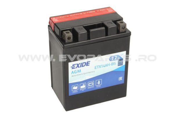 Baterie EXIDE AGM 12V 12AH (YTX14AH-BS) Fara Intretinere
