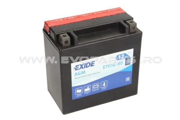 Baterie EXIDE AGM 12V 12AH (YTX14L-BS) Fara Intretinere