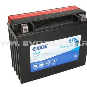 Baterie EXIDE AGM 12V 21AH (YTX24HL-BS) Fara Intretinere