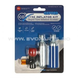 Kit Capsule CO2 + Set Adaptor Umflare Anvelopa OXFORD