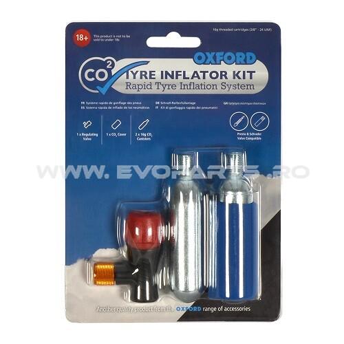 Kit Capsule CO2 + Set Adaptor Umflare Anvelopa OXFORD